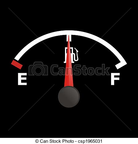 Speedometer clipart gas gauge #12