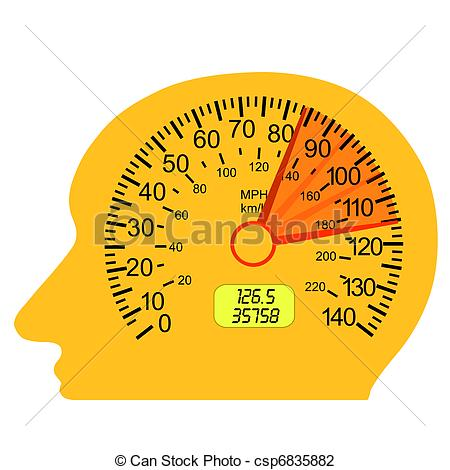 Speedometer clipart redline Speedometer  Vector brain car
