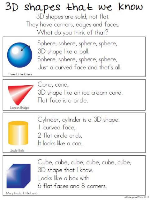 Cone clipart solid figure  Kindergarten 10 Kindergarten Describing
