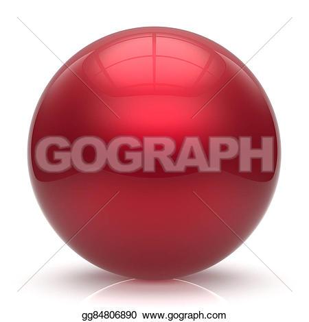 Sphere clipart basic shape Round red Illustration basic ball