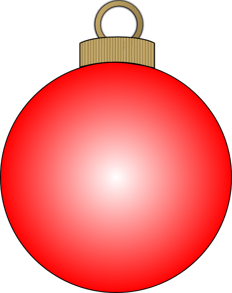 Red clipart christmas ball #3