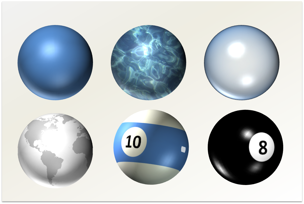 Drawn spheric glass ball PowerPoint Drawing Balls Like of