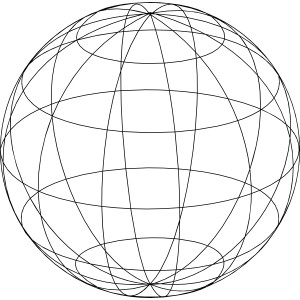 Sphere clipart circle thing Wire & Circles Cutout Globe
