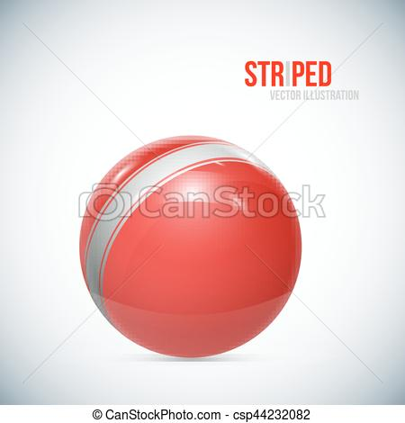 Sphere clipart cricket ball Vector Striped Sphere on of