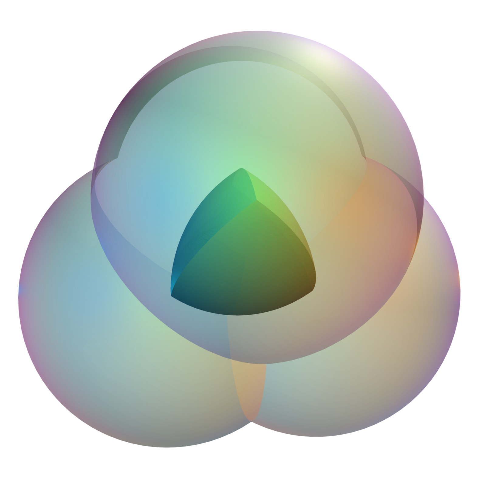 Sphere clipart different shape Each radius triangle of Reuleaux