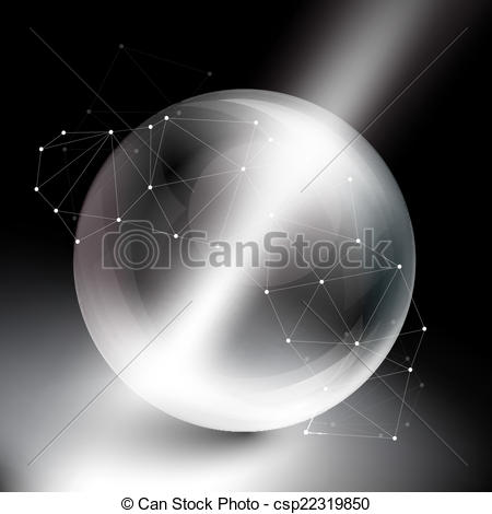 Sphere clipart light object Csp22319850 of of black rays