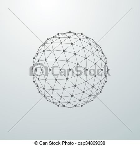 Sphere clipart line Sphere  of with global