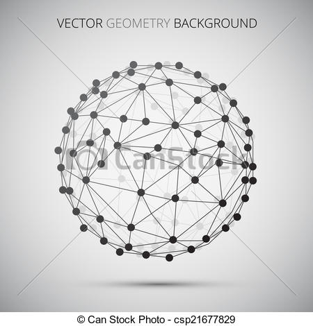 Sphere clipart line Vector Abstract  molecula Sphere
