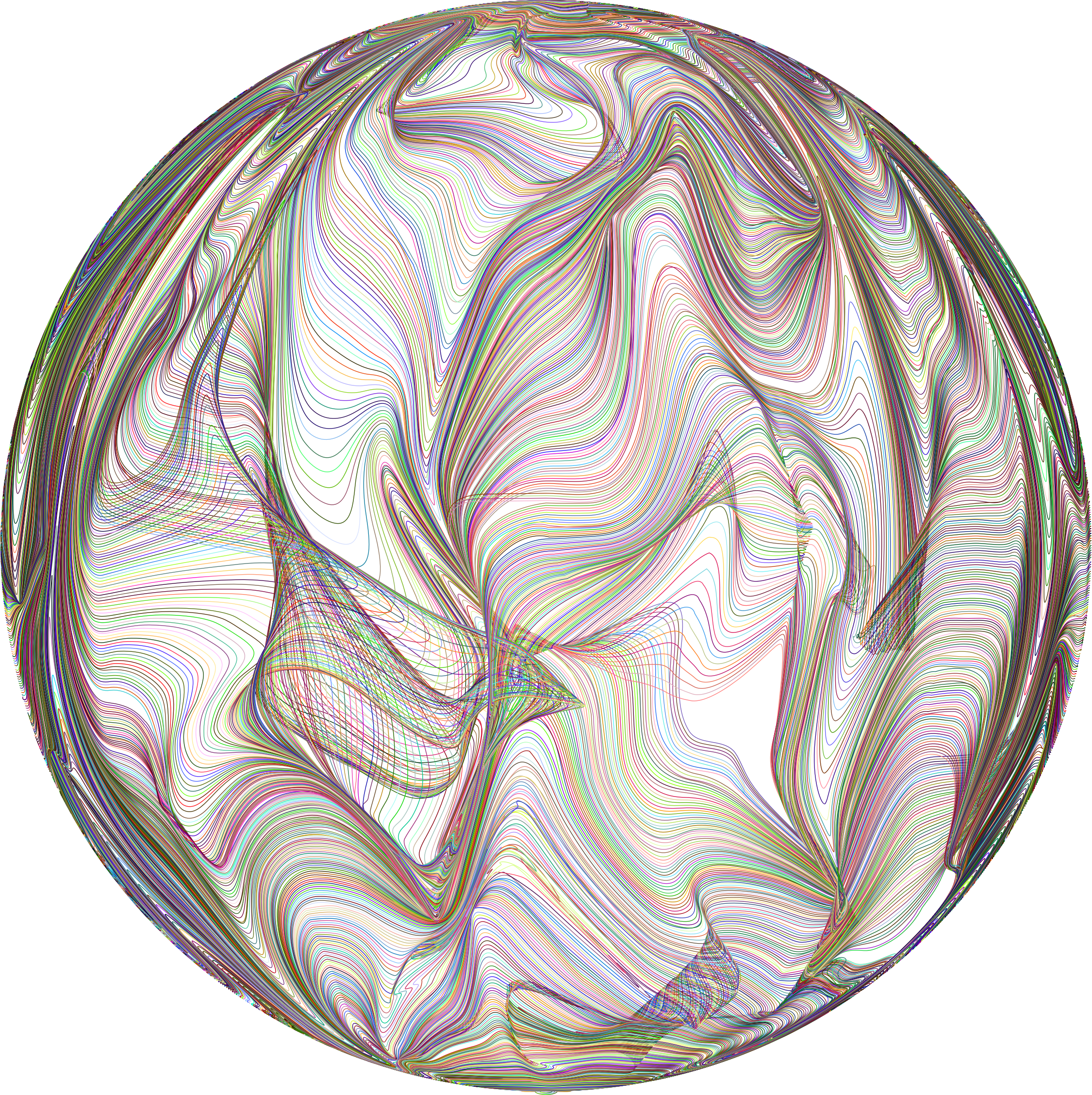 Sphere clipart line Sphere Line Distorted Prismatic Art