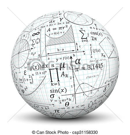 Sphere clipart math Math of  Ball White