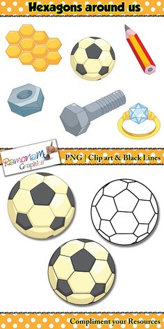 Sphere clipart math Learners Shapes Hexagons art Sphere