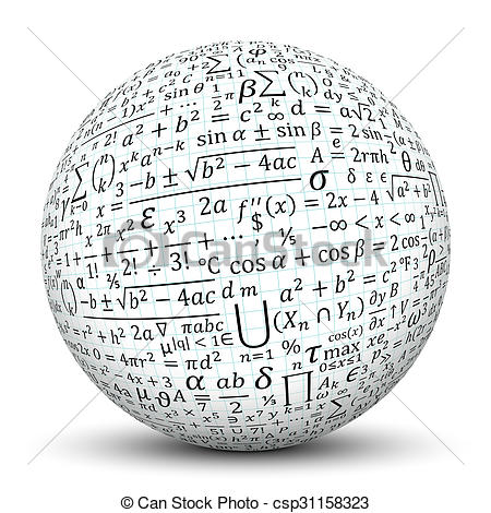 Sphere clipart math 3D White Math White with