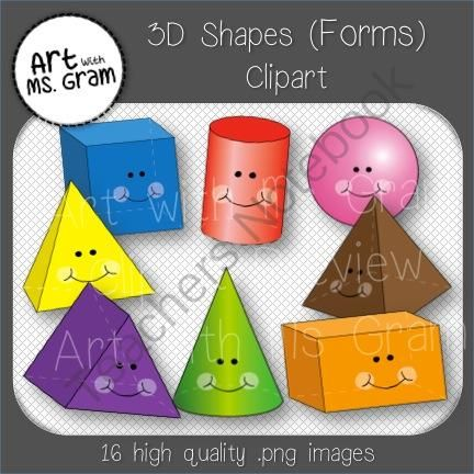Sphere clipart rectangular prism On 3 (Shapes) Forms Art
