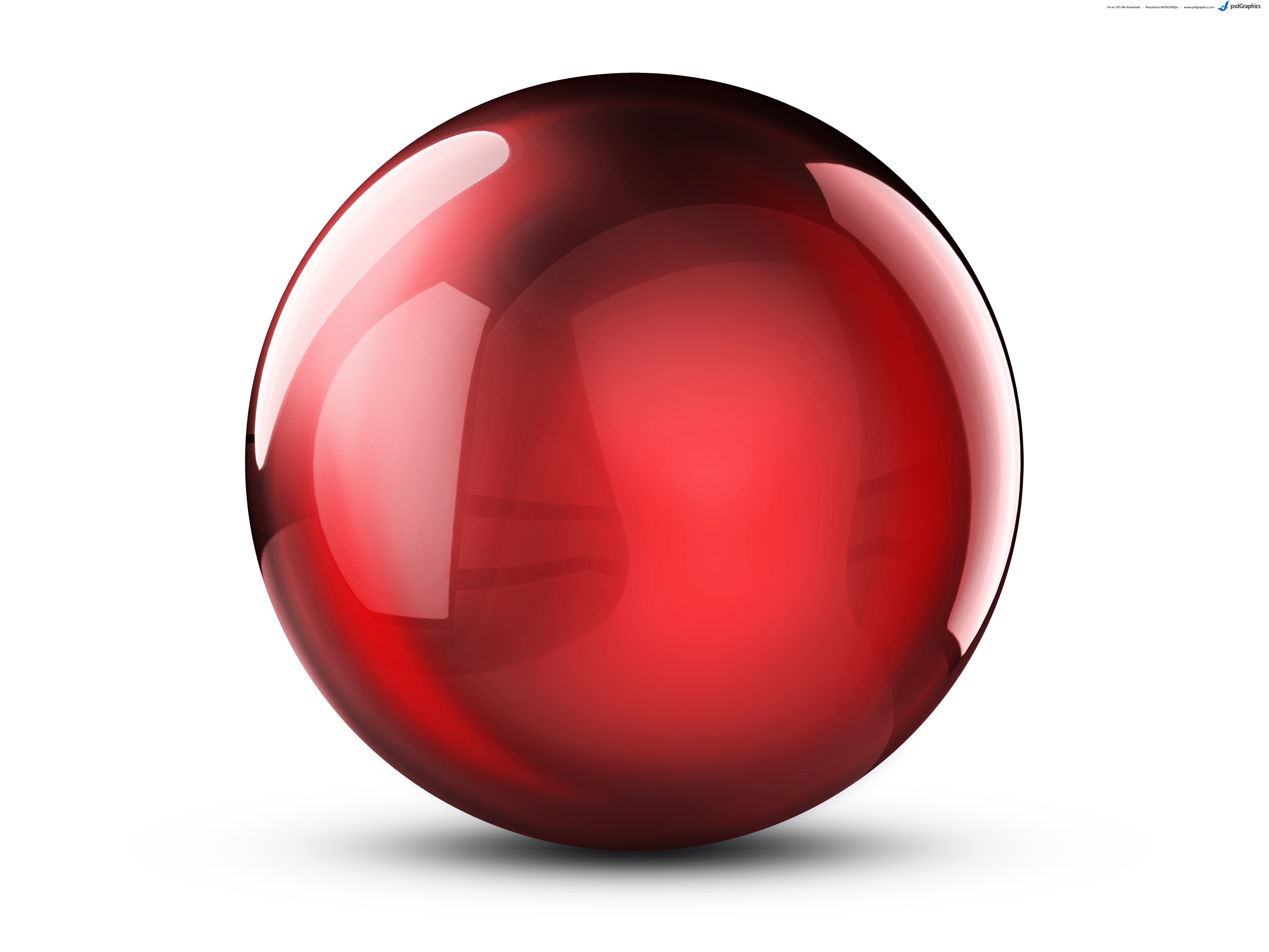 Sphere clipart red ball Collection ball PSDGraphics crystal balls