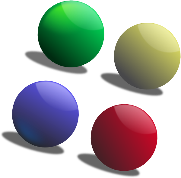 Sphere clipart small ball  Colour Clker image at