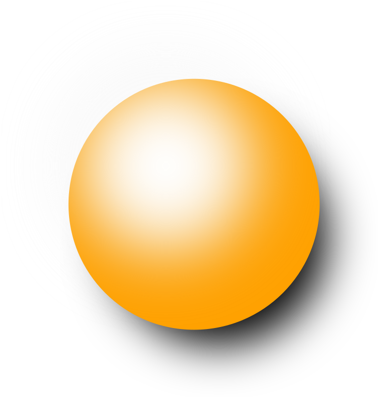 Sphere clipart small ball (PNG) IMAGE (1) orange Clipart