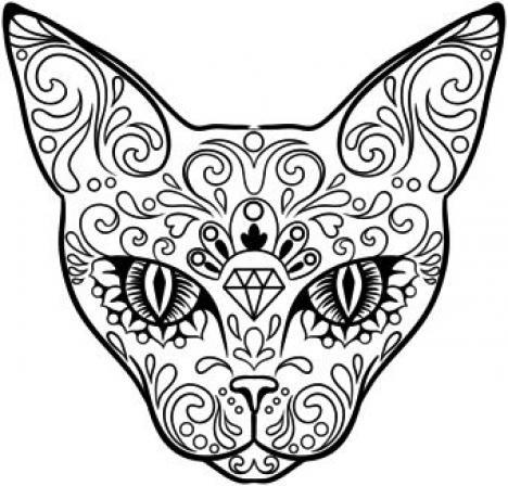 Drawn sugar skull butterfly IColor iColor