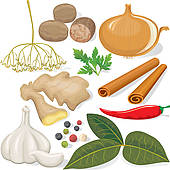 Spices clipart vector  vegetables Free Clip GoGraph