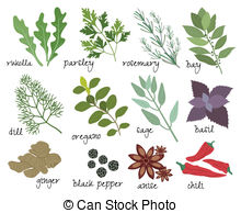Spices clipart jalapeno Spices Herbs Clipart herbs Art