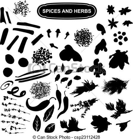 Spices clipart black and white And silhouette Art a a