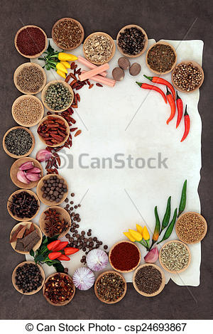 Spices clipart border And Border of  Herb
