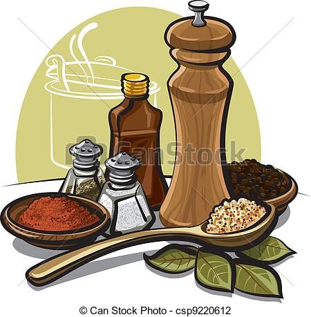 Spices clipart cartoon Vector Search of Vector spices