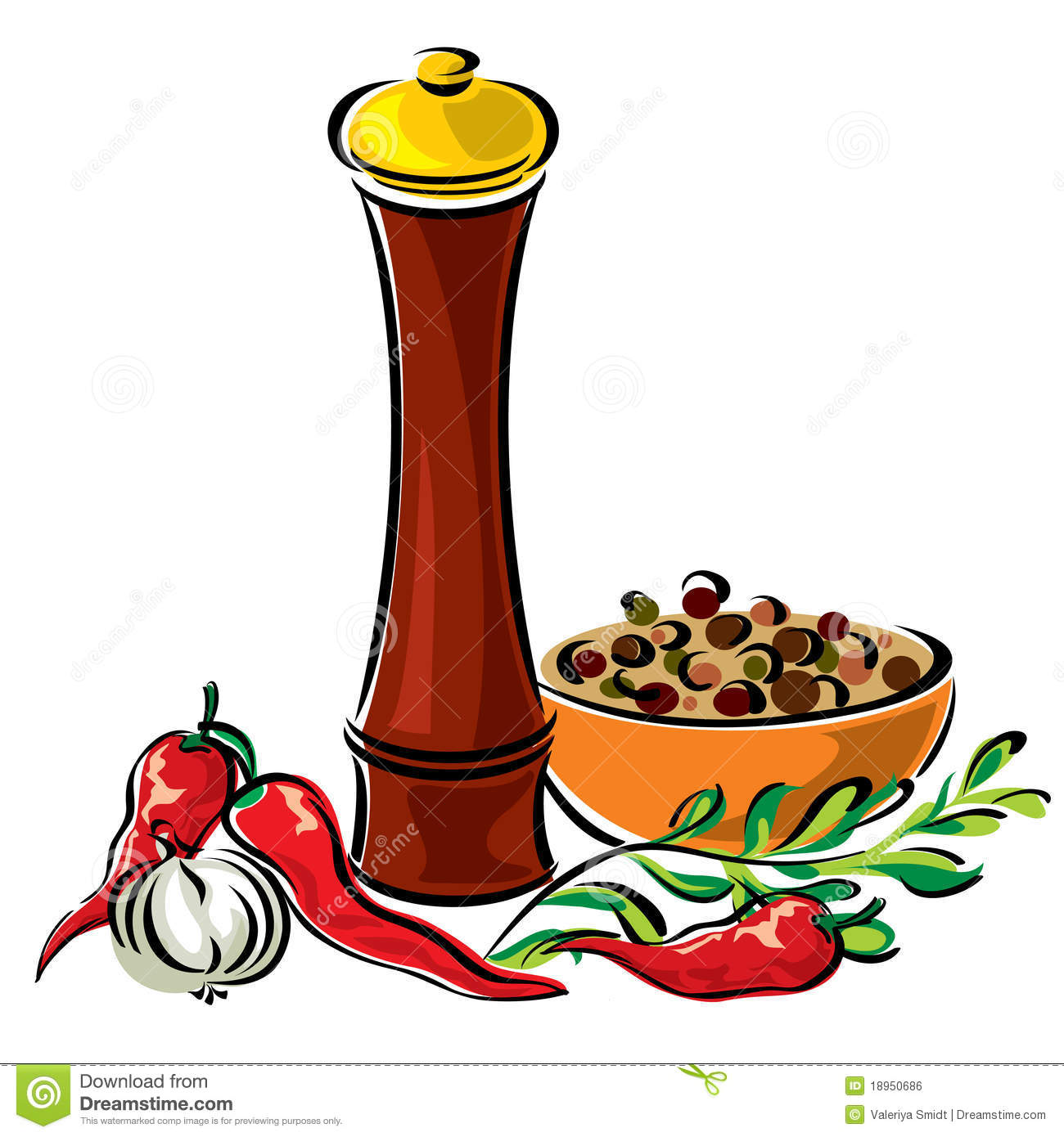 Spices clipart vector Spice Spices Clipart Seasoning cliparts