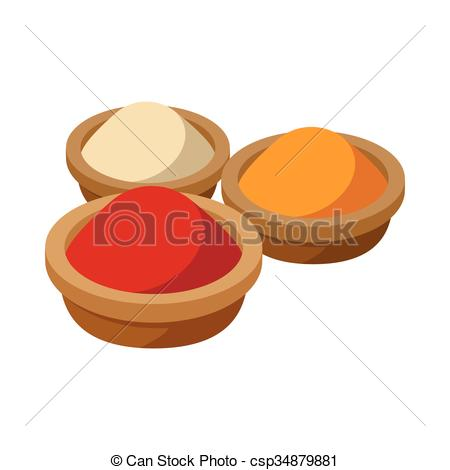 Spices clipart indian spice  csp34879881 Indian icon spices