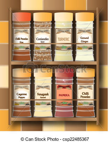 Spices clipart spice rack A csp22485367 Spice hot Rack