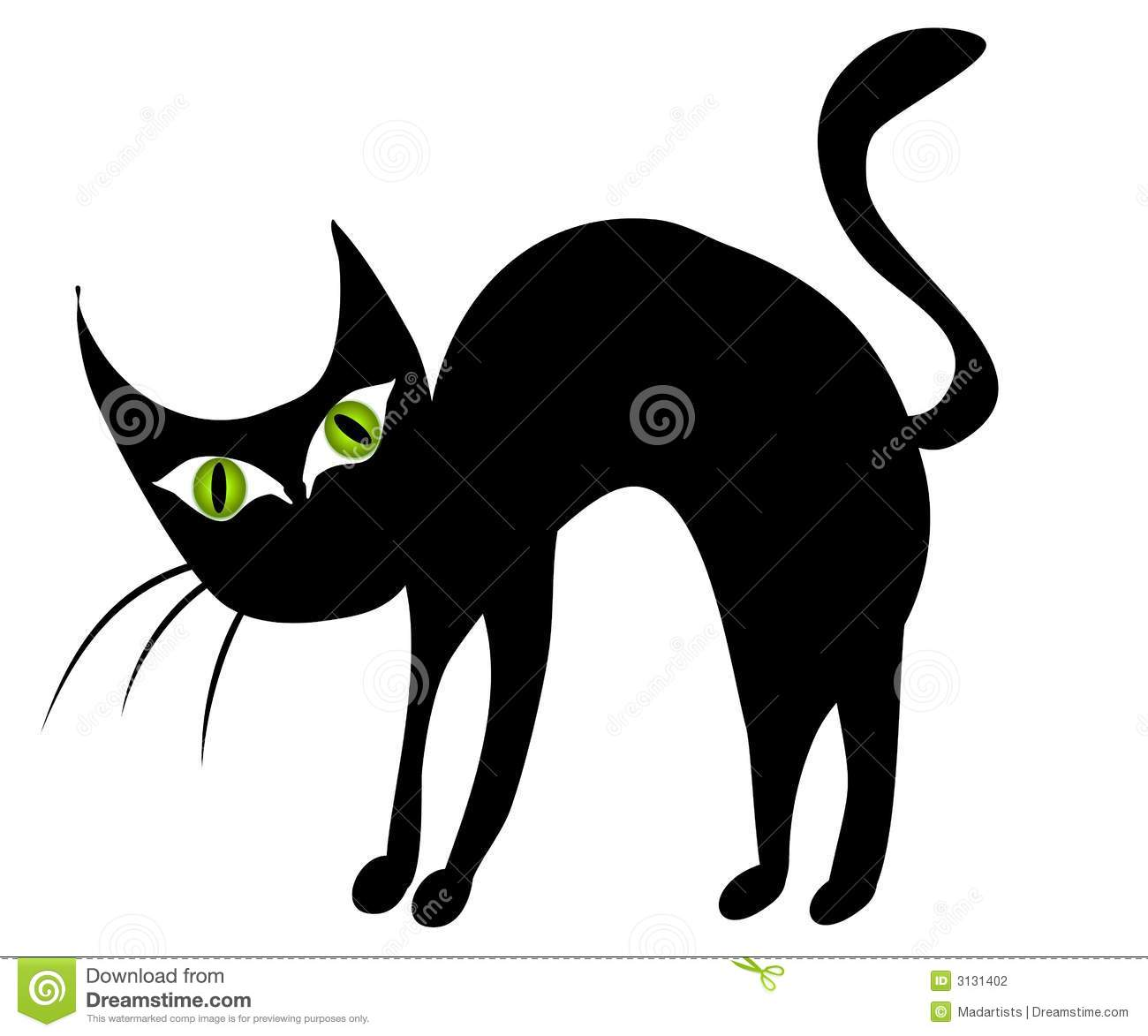 Black Cat clipart scared  Spider Clipart