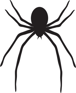 Scary clipart spider #9