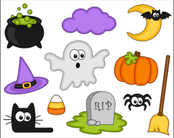 Halloween clipart photo booth Instant Cat Grave Clipart Art