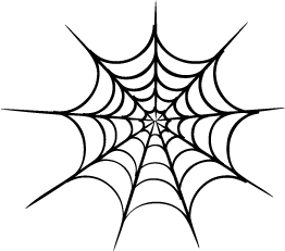 Drawn spider web silhouette Clipartcow clipart web art