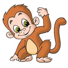 Baboon clipart baby Cartoon Baby Monkey Clipart cliparts