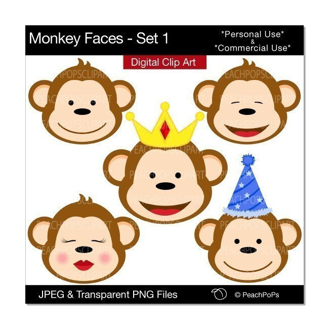Baboon clipart birthday Baby Monkey Clip Images Art