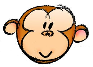 Chimpanzee clipart moneky #monkeyface9 monkey cartoon  #Spider%20Monkey%20Cartoon%20Clip%20Art