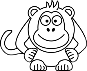 Cartoon clipart black and white Monkey Spider And Images White