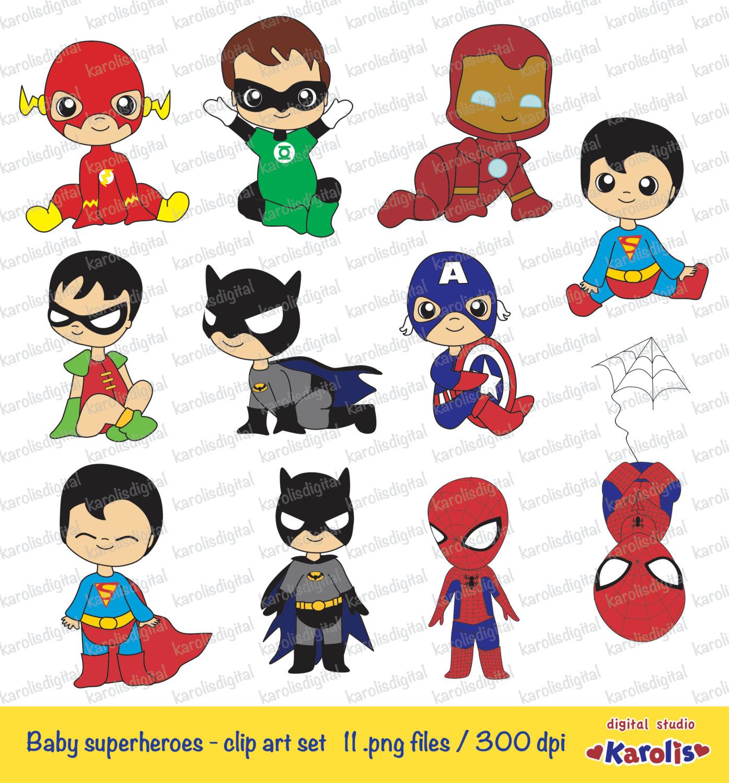 Superman clipart little superhero Art clip  superheroes digital