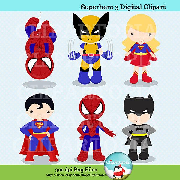Spiderman clipart batman Superhero babies Baby Clipart cartoons