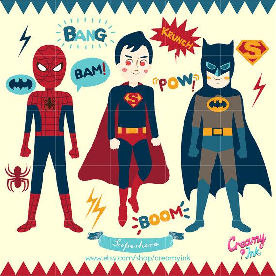 Spiderman clipart batman Superhero Design / Superhero art