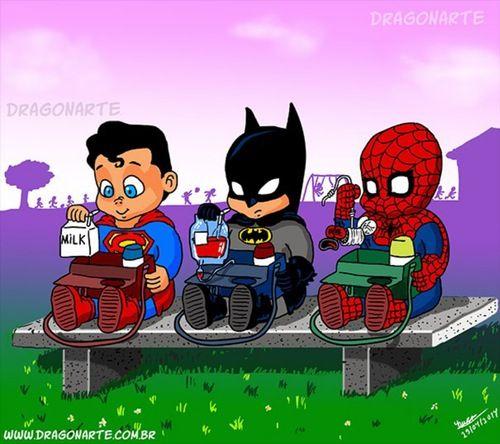 Spiderman clipart batman superman Superman on Man ! about