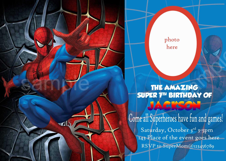 Spiderman clipart birthday invitation card Invitations Invitations Spiderman: Oh Free