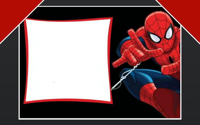 Spiderman clipart birthday invitation card Birthday birthday template party Free