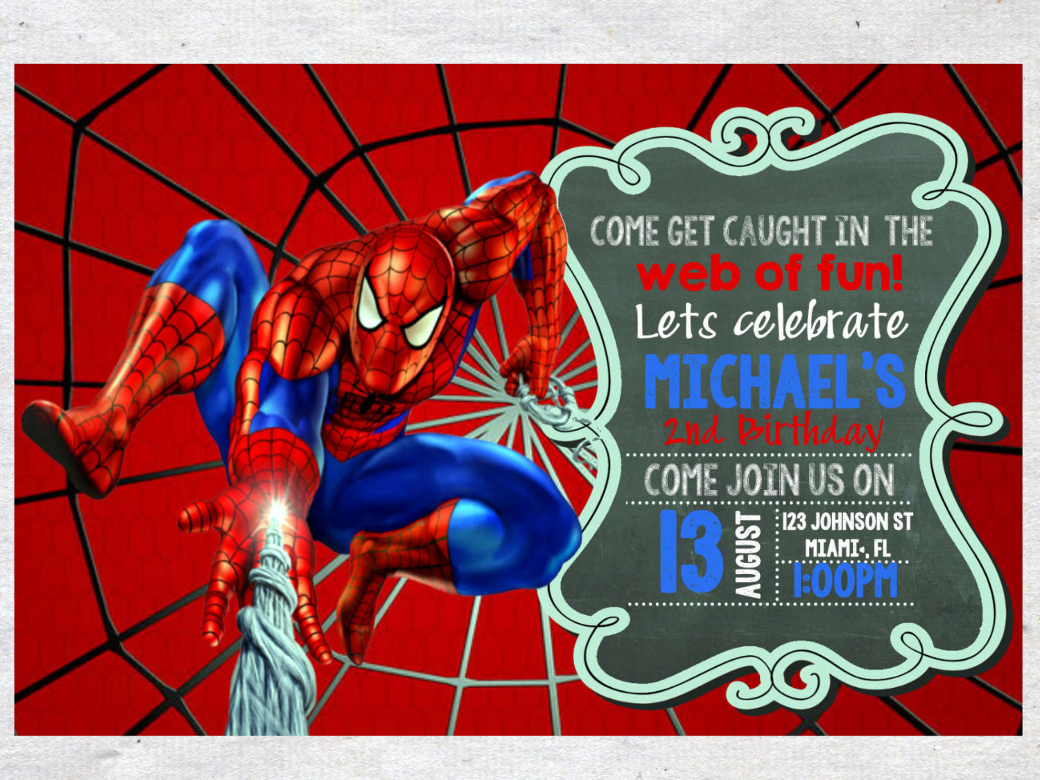 Spiderman clipart birthday invitation card Birthday by invitations your implementing