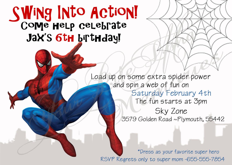 Spiderman clipart birthday invitation card Free Invitations Spiderman Printable Birthday