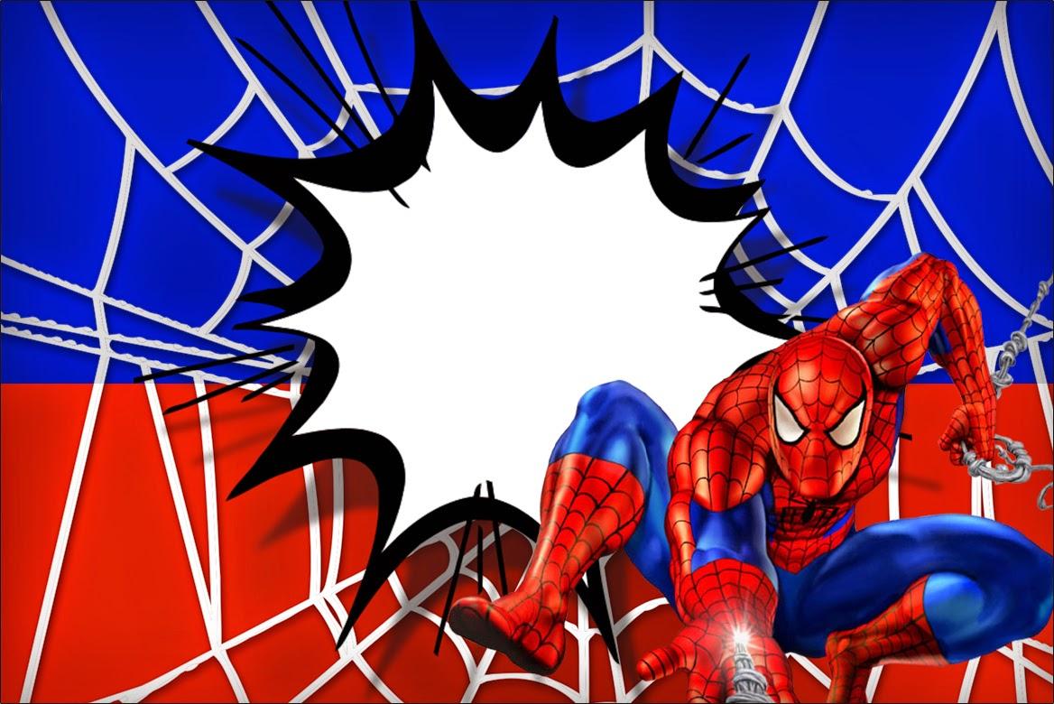 Spiderman clipart birthday invitation card Is Printable Free it Printable