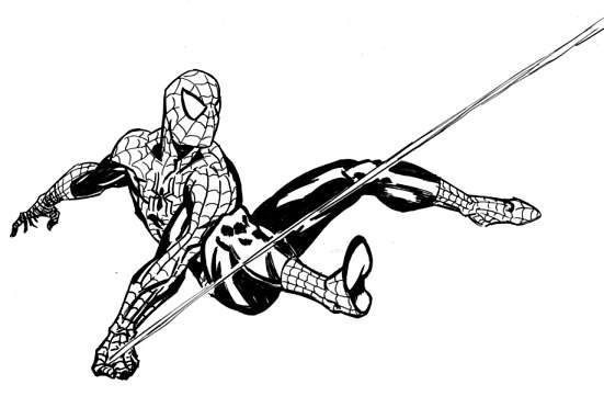 Spiderman clipart black and white Clip Spiderman Art Art Spiderman