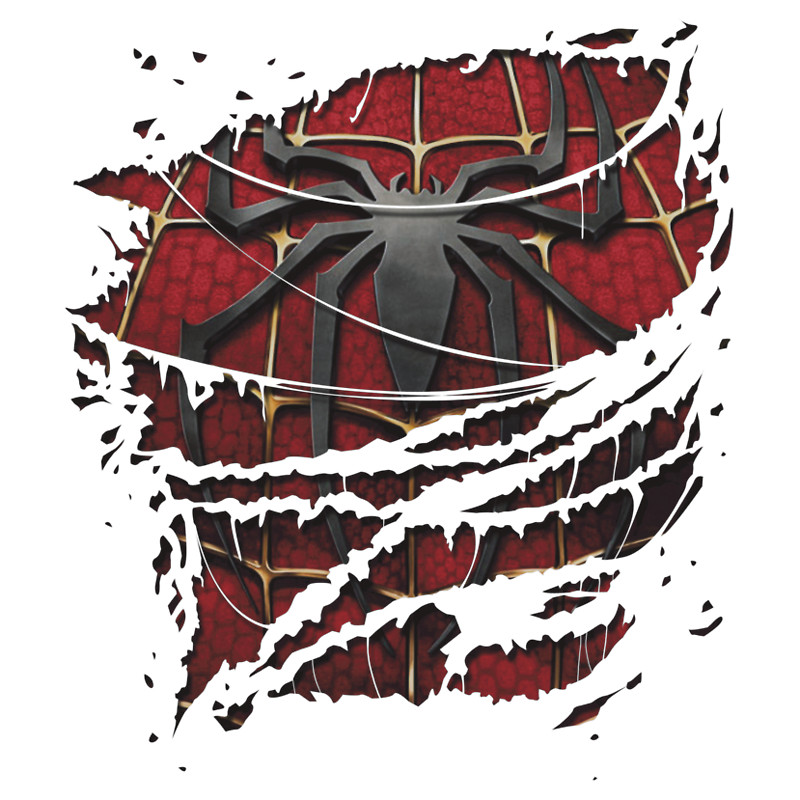 Spiderman clipart chest T Redbubble Ripped
