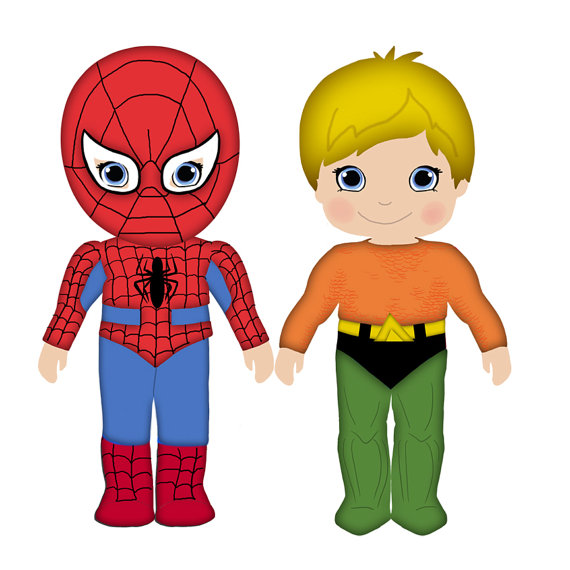 Superman clipart toy & art Freebies Aquaman Spiderman