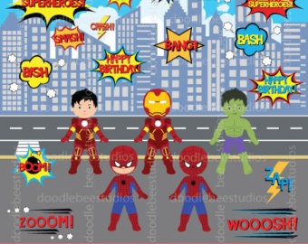 Spiderman clipart chibi The Art Etsy SuperHeroes Clipart